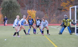 Field hockey beats Clark to go undefeated in NEWMAC play