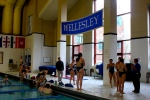 Swim and dive team at the end of practice  by Pamela Wang '17 Staff Photographer