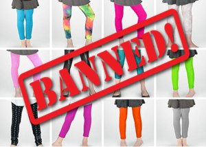 Middle school unfairly imposes ban on leggings